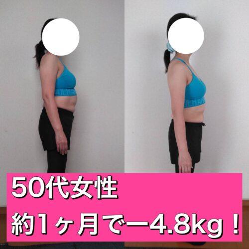 夜勤ありでも 約1ヶ月でー4.8kg!